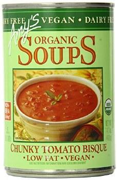 Amy's Vegan Chunky Tomato Bisque Soup, 14.1 oz.