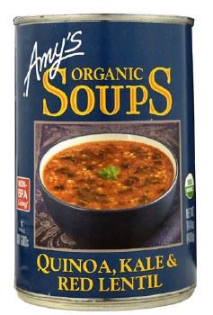 Amy's Quinoa, Kale & Red Lentil Soup, 14.4 oz.
