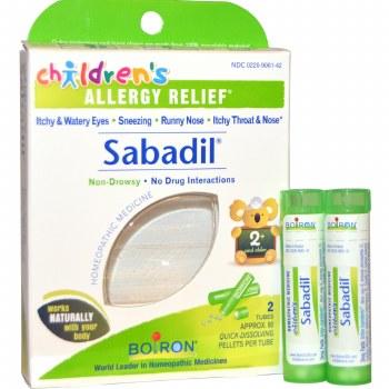 Boiron Sabadil Children's Allergy Relief, 2 tubes of 80 pellets each