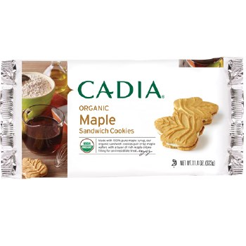 Cadia Organic Maple Sandwich Cookies, 11.4 oz.