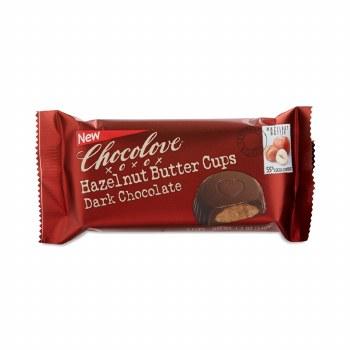 Chocolove Hazelnut Butter Cups Dark Chocolate, 1.2 oz.