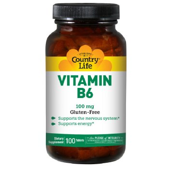 Country Life Vitamin B-6, 100 tablets