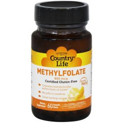 Country Life Mehtylfolate, 60 smooth melts