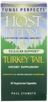 Fungi Perfecti Host Defense Turkey Tail Immune Support, 60 vegetarian capsules