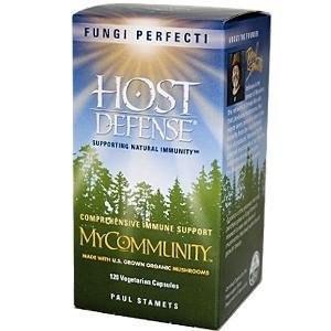 Fungi Perfecti Host Defense MyCommunity Comprehensive Immunity Support, 120 vegetarian capsules