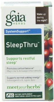 Gaia Herbs Sleep Thru, 60 vegetarian capsules