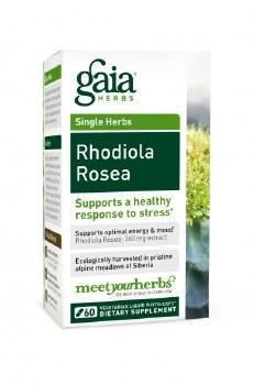 Gaia Herbs Rhodiola Rosea, 120 vegetarian capsules