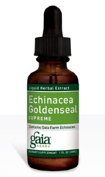 Gaia Herbs Echinacea Goldenseal Liquid Herbal Extract, 1 oz.