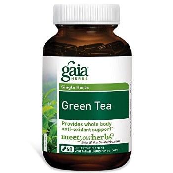 Gaia Herbs Green Tea, 60 vegetarian capsules