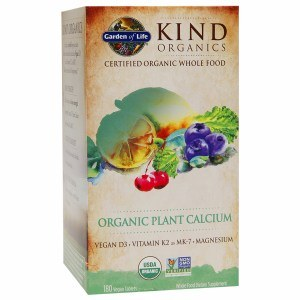 Garden of Life Kind Organics Organic Plant Calcium, 180 vegan tablets