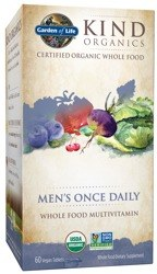 Garden of Life Kind Organics Men's Once Daily Whole Food Multivitamin, 30 vegan tablets