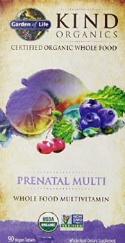 Garden of Life Kind Organics Prenatal Multivitamin, 90 vegan tablets