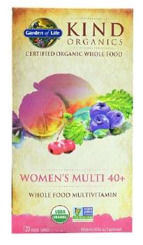 Garden of Life Kind Organics Womaen's Multi Whole Food Multivitamin, 120 vegan tablets