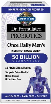 Garden of Life Dr. Formulated Once Daily Men's Probiotics, 30 vegetarian capsules
