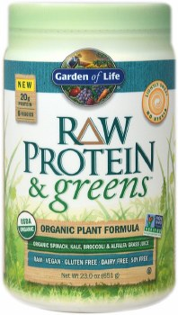 Garden of Life Lightly Sweetened Protein&Greens, 23 oz.