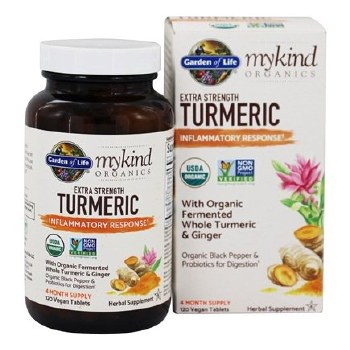 Garden of Life Mykind Extra Strength Turmeric, 120 tablets
