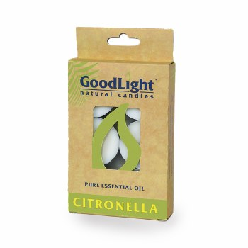 GoodLight Natural Candles Citronella Tea Lights, 6 count