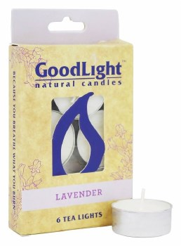 GoodLight Natural Candles Lavender Tea Lights, 6 count