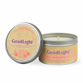 GoodLight Natural Candles Fig Grapefruit Candle, 6 oz.