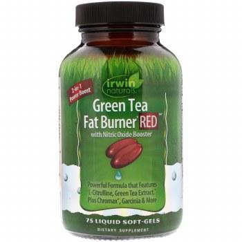 Irwin Naturals Green Ted Fat Burner Red, 75 liquid soft gels