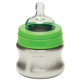 Klean Kanteen Stainless Steel Slow Flow Baby Bottle, 5 oz.