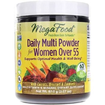 Mega Food Women's Daily Multi Powder 55+, 3.07 oz.