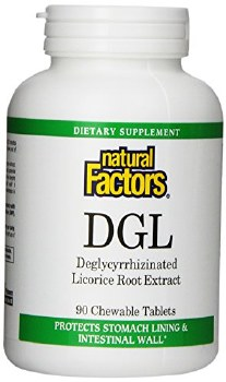 Natural Factors DGL (deglyccyrrhizinated) Licorice Root Extract, 90 tablets