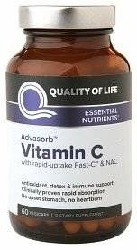 Quality of Life Absorb Vitamin C, 60 vegetarian capsules