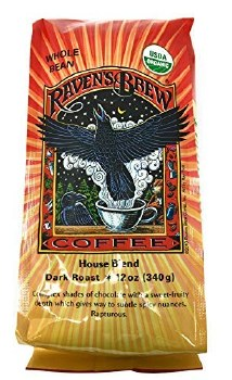 Ravens Brew Coffee House Dark Roast Coffee, 12 oz.