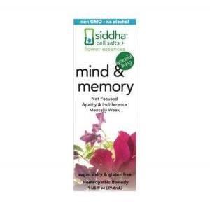 Siddha Flower Essences Mind & Memory Spray, 1 oz.