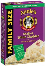 Annie's Homegrown Family Size Shells & Cheddar, 10.5 oz.