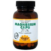 Country Life Magnesium with Silica 300 milligrams 60 vegetarian capsules