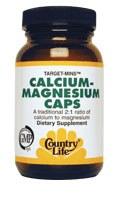 Country Life Calcium-Magnesium 180 vegetarian capsules