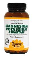 Country Life Magnesium-Potassium Aspartate 180 vegetarian tablets