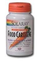 Solaray Food Carotene 10000iu 100 soft-gels