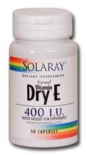 Solaray Vitamin E Dry 400iu 100 capsules