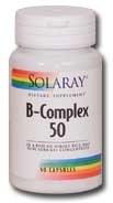 Solaray B Complex 50, 100 capsules