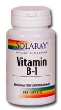 Solaray Vitamin B-1 100mg 100 capsules