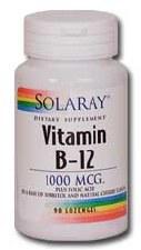 Solaray Vitamin B-12 1000mcg 90 lozenges
