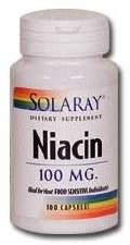 Solaray Niacin 100mg 100 capsules