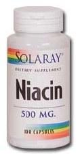 Solaray Niacin 500mg 100 capsules