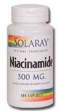 Solaray Niacinamide 500mg 100 capsules