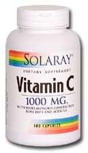 Solaray VItamin C 1000mg 100 capsules