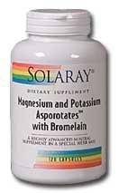 Solaray Magnesium & Potasium Asporotates with Bromelain 60 capsules