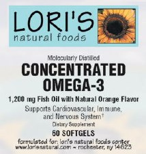 Lori's Omega3 Concentrated 60 soft-gels