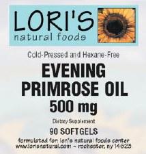 Lori's Evening Primrose 500mg 90 soft-gels