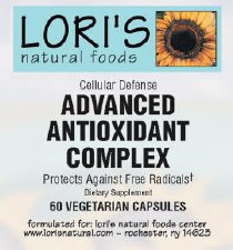 Lori's Advanced Antioxidant Complex 60 vegetarian capsules