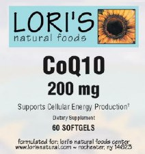 Lori's CoQ10 200mg 60 soft-gels