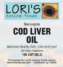 Lori's Cod Liver Oil 100 soft-gels