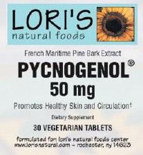 Lori's Pycnogenol 50mg 30 vegetarian capsules